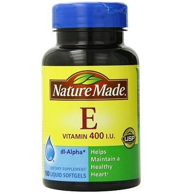 Kết quả hình ảnh cho Vitamin E 400 iu Nature Made