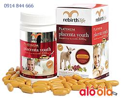 Nhau Thai Cừu PLATINUM PLACENTA YOUTH (3000mg x 60 viên)