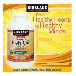 Omega 3 Fish oil Kirkland 1000mg Viên uống hỗ trợ tim mạch