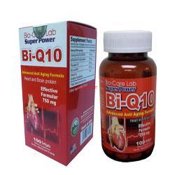 Bi-Q10 Thực phẩm chức năng bổ tim mạch  Lọ 100 viên