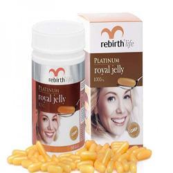 Viên uống sữa ong chúa Rebirth Platinum Royal Jelly 60 viên