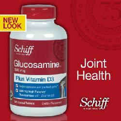 Bổ xương khớp Schiff Glucosamine 1500mg plus Vitamin D3 340 viên