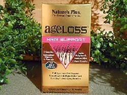 Mái tóc bóng khoẻ với AgeLoss Hair Support Nature's Plus