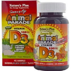 Kẹo tăng canxi Animal Parade Vitamin D3 500IU Nature's Plus