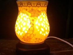 Đèn xông hương tinh dầu gốm Silent Night - Hình nụ tròn