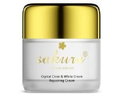 Kem dưỡng trắng da ban đêm Crystal Clear White Cream Sakura