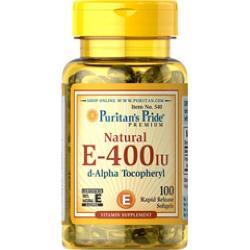 Natural Vitamin E 400IU - Đánh bay nếp nhăn Natural Vitamin E hộp 100 viên của Mỹ