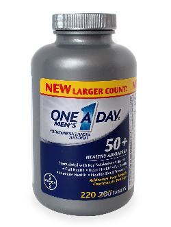 One A Day Men's 50+ vitamin tổng hợp dạng viên uống dành cho đàn ông trên 50