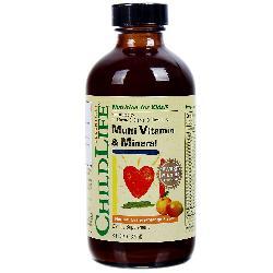 Multivitamin & Mineral Childlife vitamin tổng hợp cung cấp dinh dưỡng thiết yếu cho trẻ từ 6 đến 12 tháng tuổi