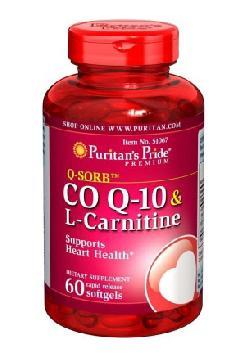 Viên uống Coq10 & l-carnitine Puritan's Pride của Mỹ cho trái tim khỏe mạnh