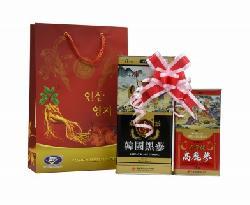 Bộ quà tặng cao cấp thượng hạng hắc sâm – hồng sâm củ khô Hàn Quốc