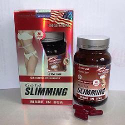 Viên Giảm Cân Gold Slimming - Đốt Cháy Mỡ Thừa Cực Nhanh - Mẫu Mới