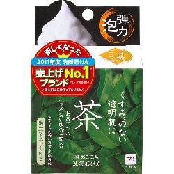 Xà phòng rửa mặt Cow trà xanh 80g Nhật Bản