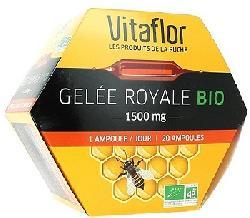 Sữa ong chúa Gelée Royal Vitaflor Bio 1500mg 20 ống của Pháp