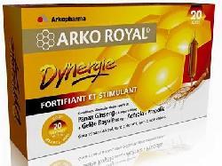 Sữa ong chúa nhân sâm Arko Royal Dynergie hộp 20 ống của Pháp