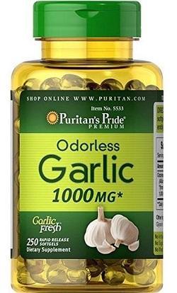 Viên tinh dầu tỏi Puritans Pride Odorless Garlic xuất xứ Mỹ