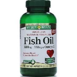 Dầu cá Natures Bounty Fish Oil 1400mg hộp 130 viên của Mỹ