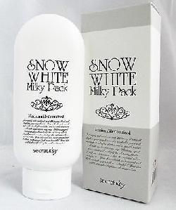 Kem tắm trắng toàn thân Snow White Milky Pack Secret Key 200g Hàn Quốc