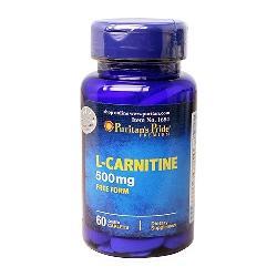 Thực phẩm chức năng giảm cân an toàn L-Carnitine 500 mg 60 viên Puritan Pride