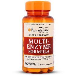 Multi enzyme formula Puritan Pride TPCN hỗ trợ tiêu hóa lọ 60 viên