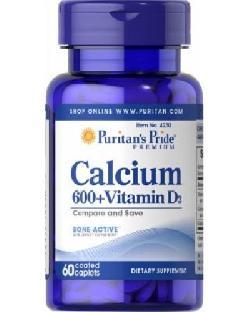 Calcium 600 vitamin d3 puritan pride hỗ trợ điều trị loãng xương lọ 60 viên