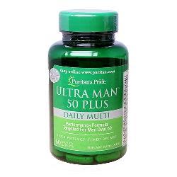 Ultra man 50 plus puritans pride bổ sung vitamin cho nam giới lớn tuổi lọ 60 viên