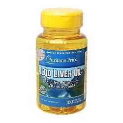 Cod liver oil 415 mg puritans pride dầu cá tốt cho tim mạch của mỹ lọ 100 viên