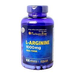 L arginine 1000mg puritans pride hỗ trợ điều trị bệnh gan lọ 100 viên