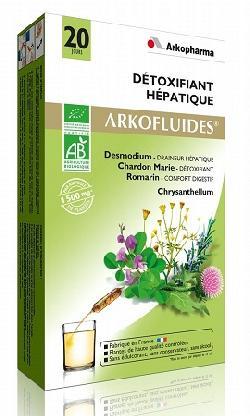 Nước thải độc gan Arkopharma Detoxifiant Hepatique hộp 20 ống của Pháp