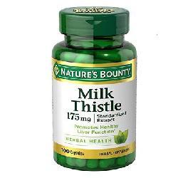 Viên giải độc gan Natures Bounty Milk Thistle 175mg 100 viên của Mỹ