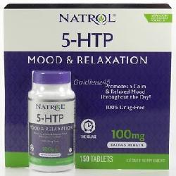 Viên giảm căng thẳng Natrol 5 – Htp Mood & Relaxation 100mg (150 viên mẫu mới)