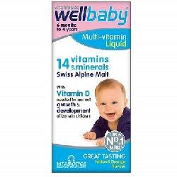 Vitamin Tổng Hợp Wellbaby Multivitamin Liquid Tăng Đề Kháng Cho Bé