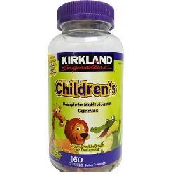 Kẹo bổ sung Vitamin cho bé Kirkland Childrens Multivitamin 160 viên