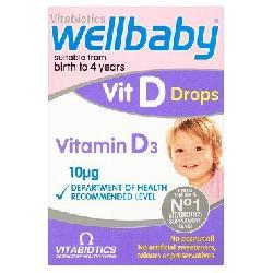 Wellbaby Vitamin D Drops dạng nhỏ giọt của Anh 30ml cho bé