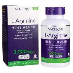 L-Arginine 3000mg 90 viên Tăng cường sinh lý Natrol L Arginine Mẫu Mới 2018