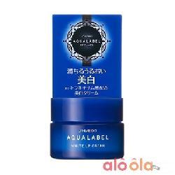 Kem Dưỡng Shiseido Aqualabel White Up Cream Màu Xanh 30g Mẫu Mới