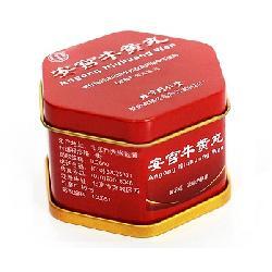 An Cung Ngưu Hoàng Hoàn Hộp Thiếc Màu Đỏ Thượng Hạng Bắc Kinh