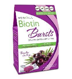 Kẹo Dẻo Neocell Biotin Bursts - Kích Thích Mọc Tóc, Giảm Rụng Tóc