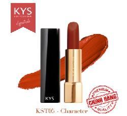 Son lỳ siêu mịn môi KYS Chocolate Character Cam Cháy mẫu mới