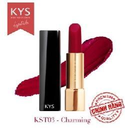 Son lỳ siêu mịn môi KYS Chocolate đỏ rượu - charming lãng mạn quyến rũ
