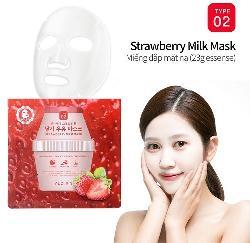 Mặt nạ sữa dâu Puclair Strawberry Milk Mask 10 gói Hàn Quốc
