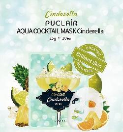 Mặt nạ da sáng bóng sạch nhờn Puclair Aqua Cocktail Mask Cinderella Hàn Quốc
