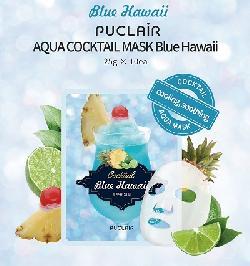 Mặt nạ làm mát da êm dịu Puclair Aqua Cocktail Blue Hawaii Hàn Quốc