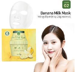 Mặt nạ sữa chuối Puclair Banana Milk Mask Hàn Quốc chính hãng