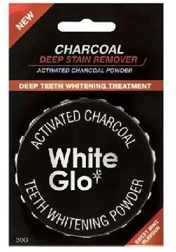 Bột trắng răng than hoạt tính White Glo Charcoal 30g của Úc