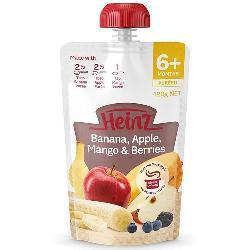 Váng sữa Heinz Banana Apple Mango & Berries Pouch 120g của Úc