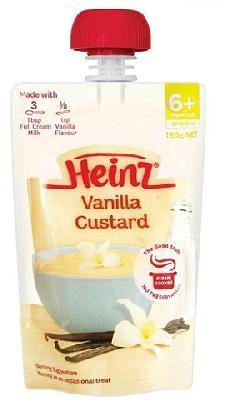 Váng sữa Heinz Custard của Úc ( vị Vani ) cho trẻ từ 6 tháng tuổi