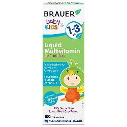 Brauer Baby & Kids Liquid Multivitamin for Toddlers cho trẻ 1- 3 tuổi