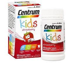Vitamin tổng hợp cho bé Centrum Kids Strawberry 60 viên Úc