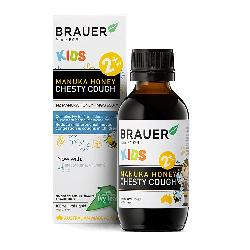 Brauer manuka honey chesty cough giảm ho khan ho có đờm cho bé